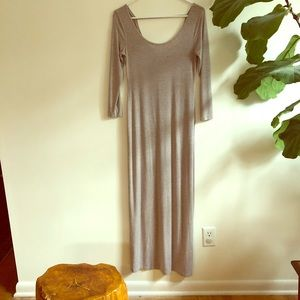 Taupe maxi dress by Kenar